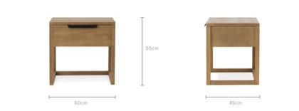 dimension of Logan Bedside Table