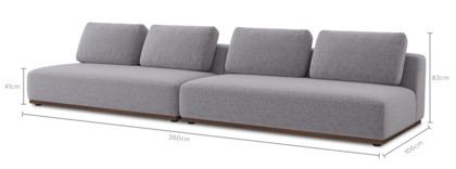 dimension of Warren 4 Seater Sofa