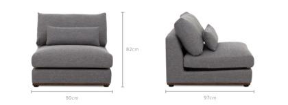 dimension of Alfie Armless Sofa