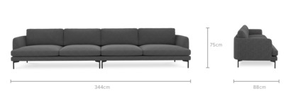 dimension of Pebble 4.5 Seater Sofa