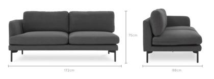 dimension of Pebble Left Facing 2 Seater Sofa