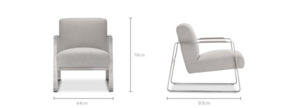dimension of Cabe Armchair