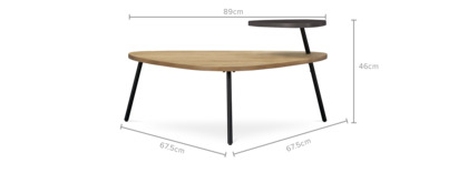 dimension of Romy Coffee Table