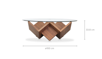 dimension of Cupid Coffee Table