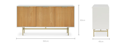 dimension of Isla Sideboard, 160 cm