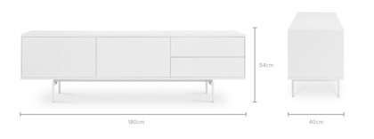 dimension of Arvid TV Console, 180cm