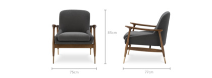 dimension of Desmond Armchair