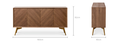 dimension of Lily Sideboard, 160cm