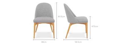 dimension of Debbie Chair