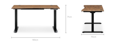 dimension of Emmerson Adjustable Standing Desk
