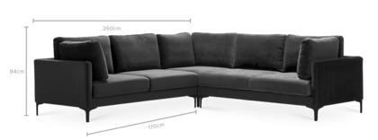 dimension of Adams L-Shape Sectional Sofa