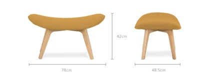 dimension of Gable Ottoman