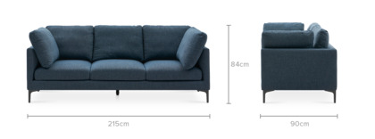 dimension of Adams Extended Sofa, 215cm