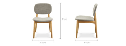 dimension of Kelsey Chair, Natural Ash