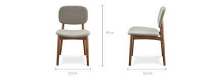 dimension of Kelsey Chair, Walnut Stain