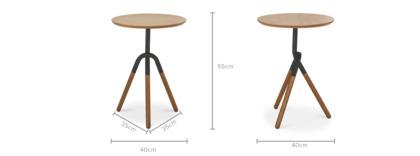 dimension of Zane Side Table, Dark Walnut