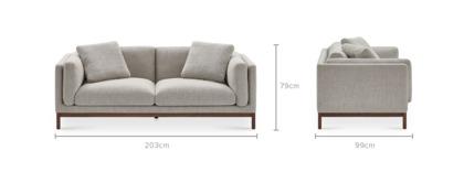 dimension of Owen 3 Seater Sofa