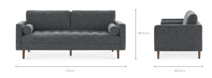 dimension of Madison Extended Sofa