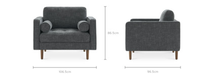 dimension of Madison Armchair