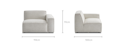 dimension of Jonathan Right Corner Sofa