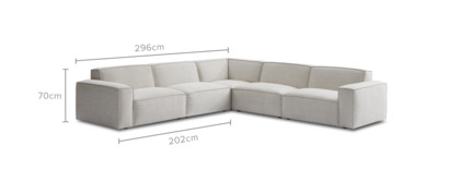 dimension of Jonathan L-Shaped Sectional Sofa