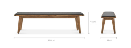 dimension of Seb Dining Bench