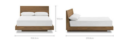dimension of Joseph Bed, Walnut