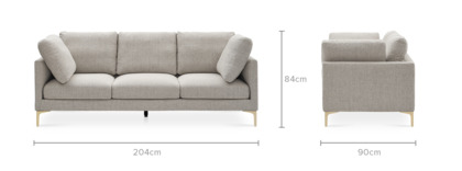 dimension of Adams 3 Seater Sofa