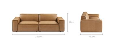 dimension of Jonathan Sofa Leather
