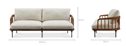 dimension of Wayne 3 Seater Sofa