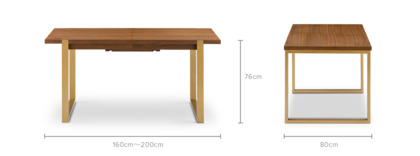 dimension of Gavin Extendable Dining Table