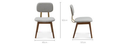 dimension of Lily Chair