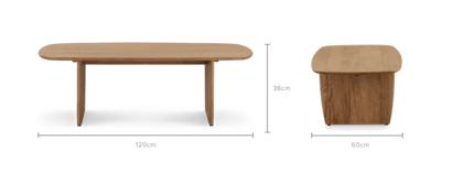 dimension of Jaxon Coffee Table