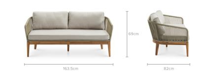 dimension of Maui 2 Seater Sofa