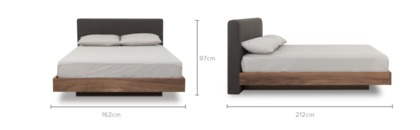dimension of Joseph Bed with 2 Joseph Bedside Tables