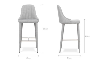 dimension of Torri Counter Chair