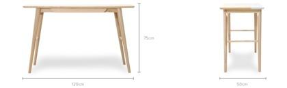 dimension of Charlotte Desk