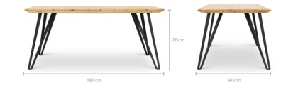 dimension of Louis Dining Table