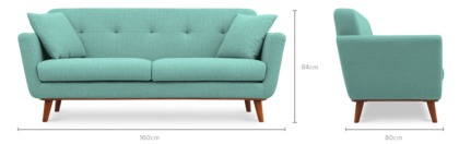 dimension of Hanford 2 Seater Sofa