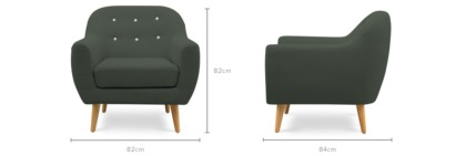 dimension of Naomi Armchair