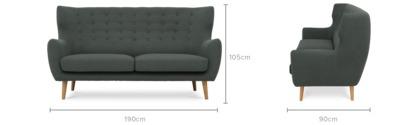 dimension of Beck Sofa