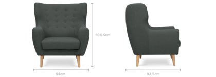 dimension of Beck Armchair