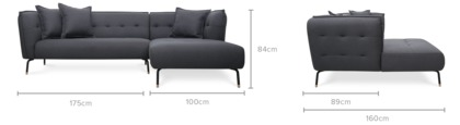 dimension of Zachary Sofa Sectional