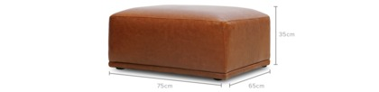 dimension of Todd Ottoman Leather