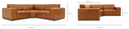 dimension of Todd Sectional Sofa Leather