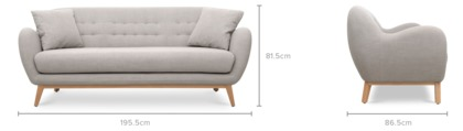 dimension of Lester Sofa