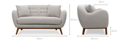 dimension of Lester 2 Seater Sofa