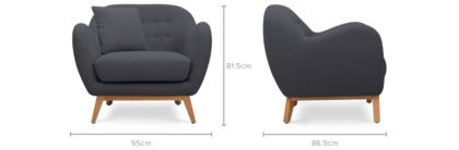dimension of Lester Armchair