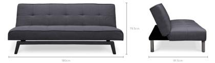 dimension of Porter Sofa Bed