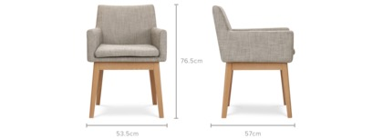 dimension of Lewis Arm Chair